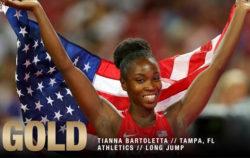 Tianna Bartoletta 3x Olympic Gold Medalist